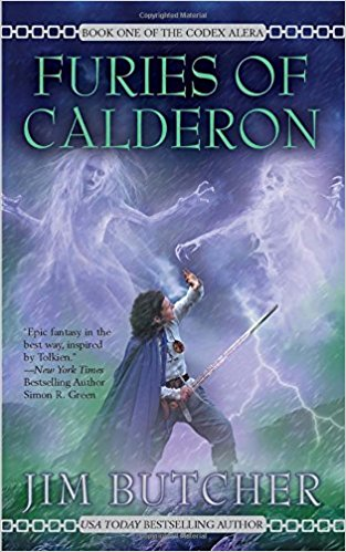 Cover of Furies of Calderon, showing a Roman being attacked by a Storm.