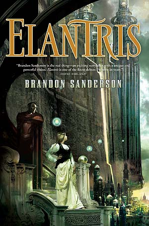 Cover of Elantris by Brandon Sanderson. Art by Stephan Martiniere.