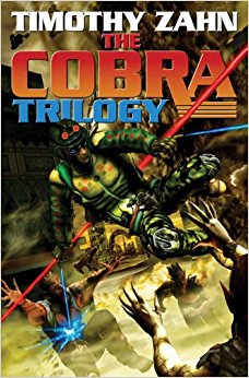 Cover of Cobra Trilogy by Timothy Zahn. Art by Kurt Miller.
