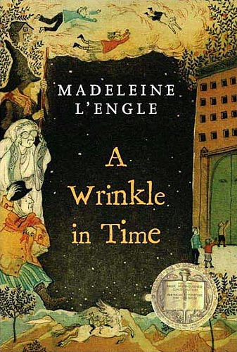 Cover of a Wrinkle in Time by Madeleine L'Engle. Art by Taeeun Yoo.