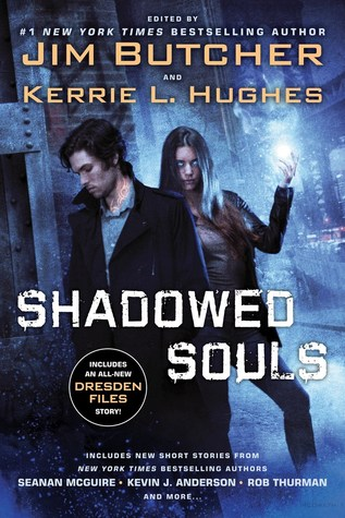 Cover of Shadowed Souls edited by Jim Butcher and Kerrie L. Hughes. Art by Chris McGrath