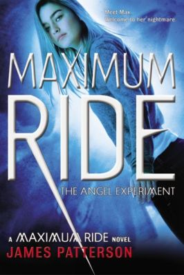 Cover of Maximum Ride by James Patterson. Cover art of a teen girl with white hair by Larry Rostant.