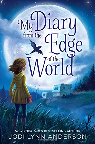 Cover of My Diary from the Edge of the World. Art of a girl and an RV under the moon by Jennifer Bricking.
